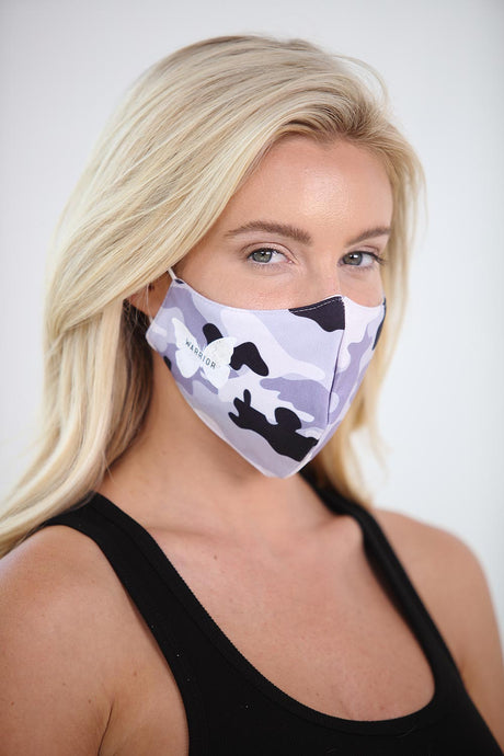 Warrior White Butterfly Printed Women's Face Mask