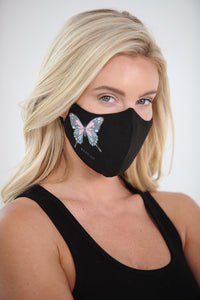 Warrior Pastel Butterfly Women's Face Mask