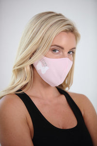 Pink Warrior White Butterfly Women's Face Mask