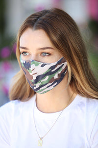 Camo Tan Face Mask