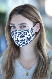 Brown & Black Cheetah Print Face Mask