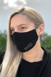 Never Apologize for Being a Bad Ass Woman Women's Solid Face Mask