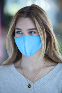 Neon Blue Women's Face Mask