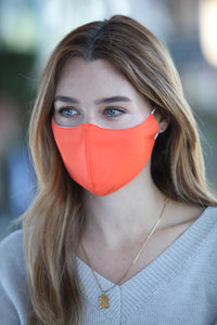 Neon Orange Women's Face Mask