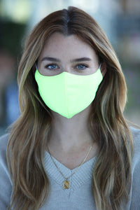 Neon Yellow Women's Face Mask