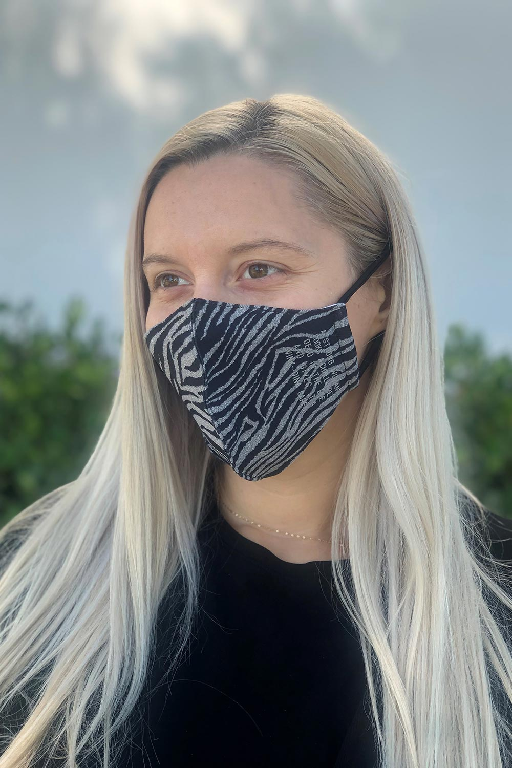 Zebra With Quote Women's Face Mask