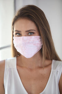 Cotton Face Mask Tie Dye Pink