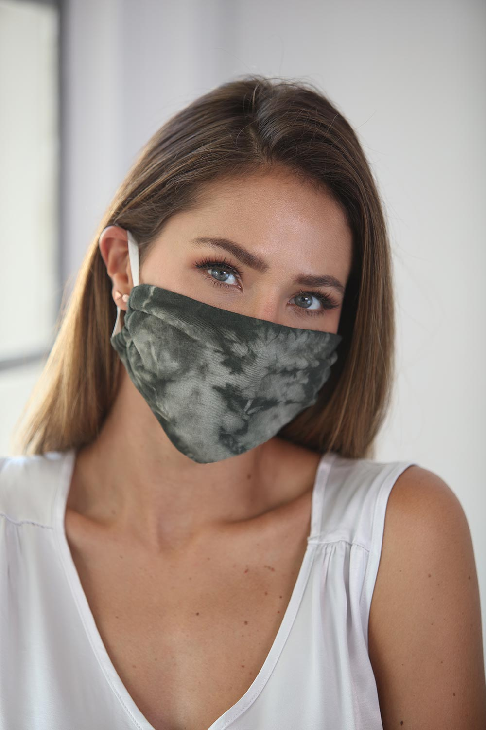 Cotton Face Mask Tie Dye Sage