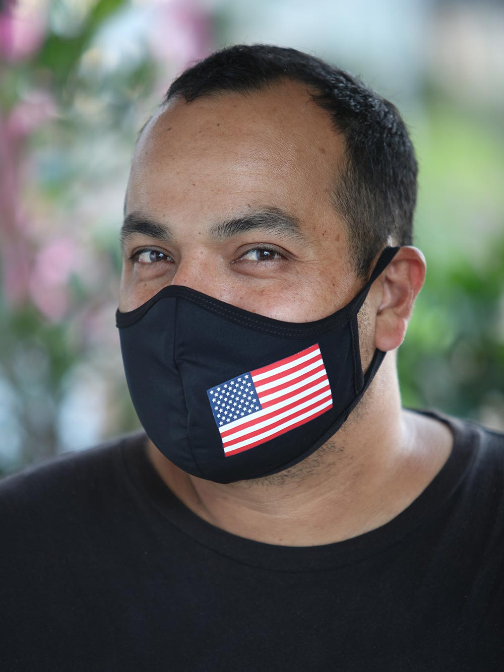 Mens Black American Flag Face Mask