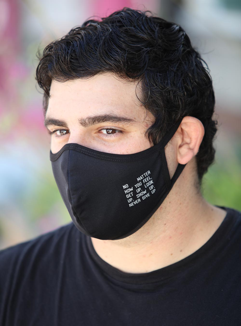 Mens Black No Matter How Your Feel Face Mask