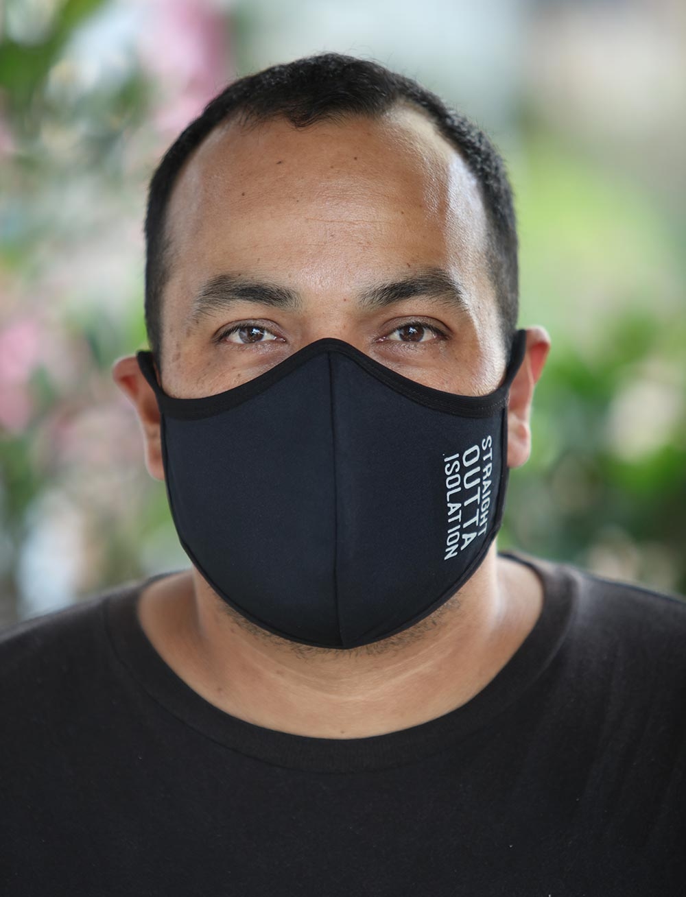 Mens Black Straight Outta Isolation Face Mask