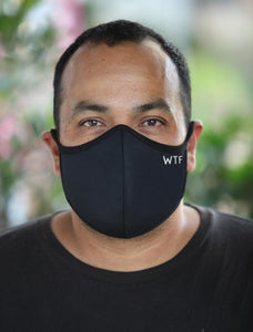Mens Black WTF Face Mask