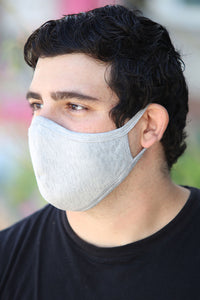 Mens Grey Face Mask