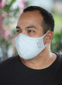 Mens Gray Know Justice Know Peace Face Mask