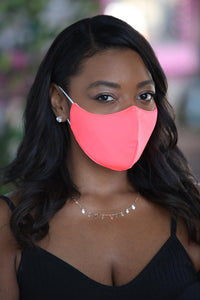 Neon Coral Women's Face Mask