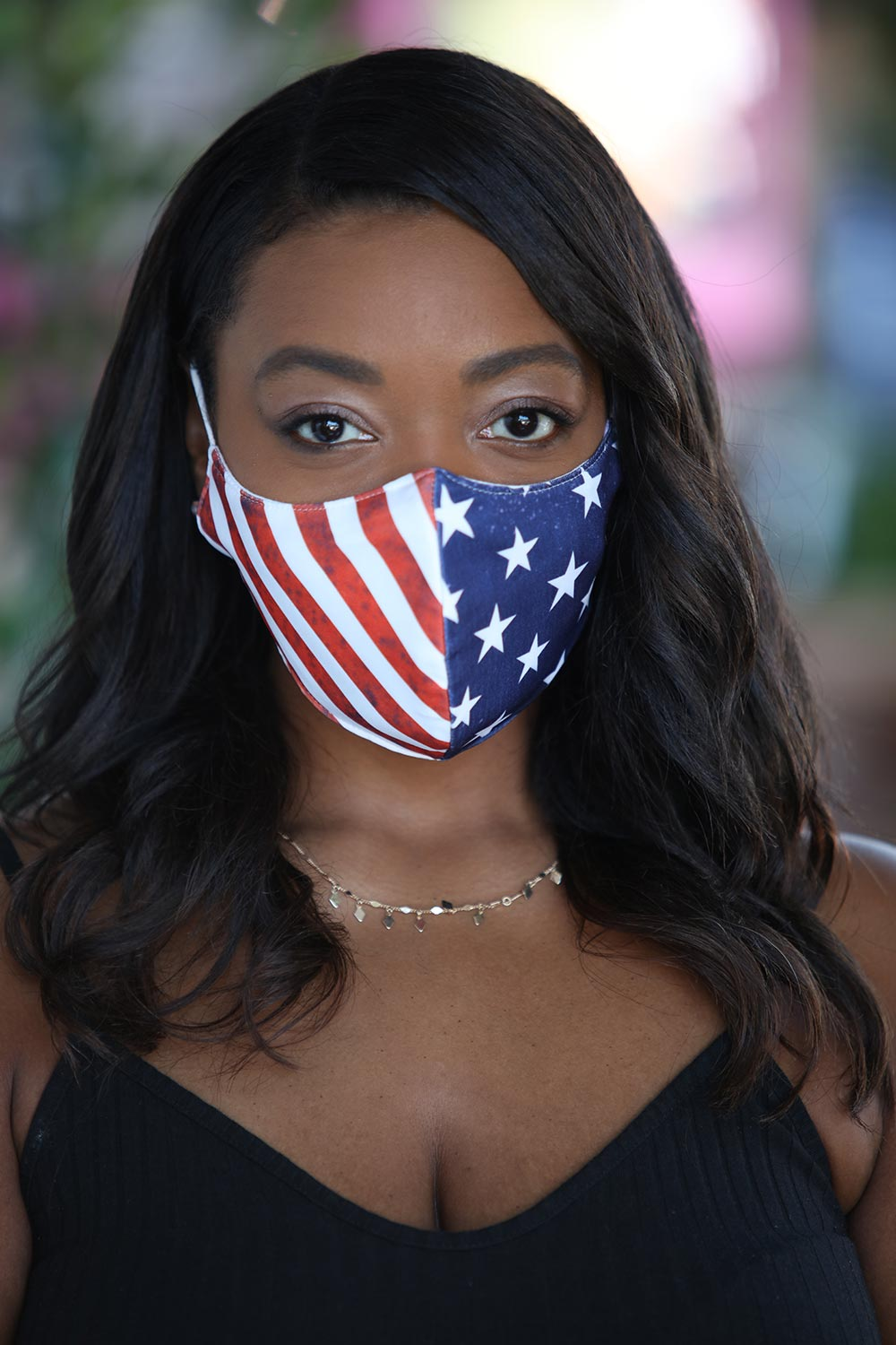 American Flag Women's Face Mask