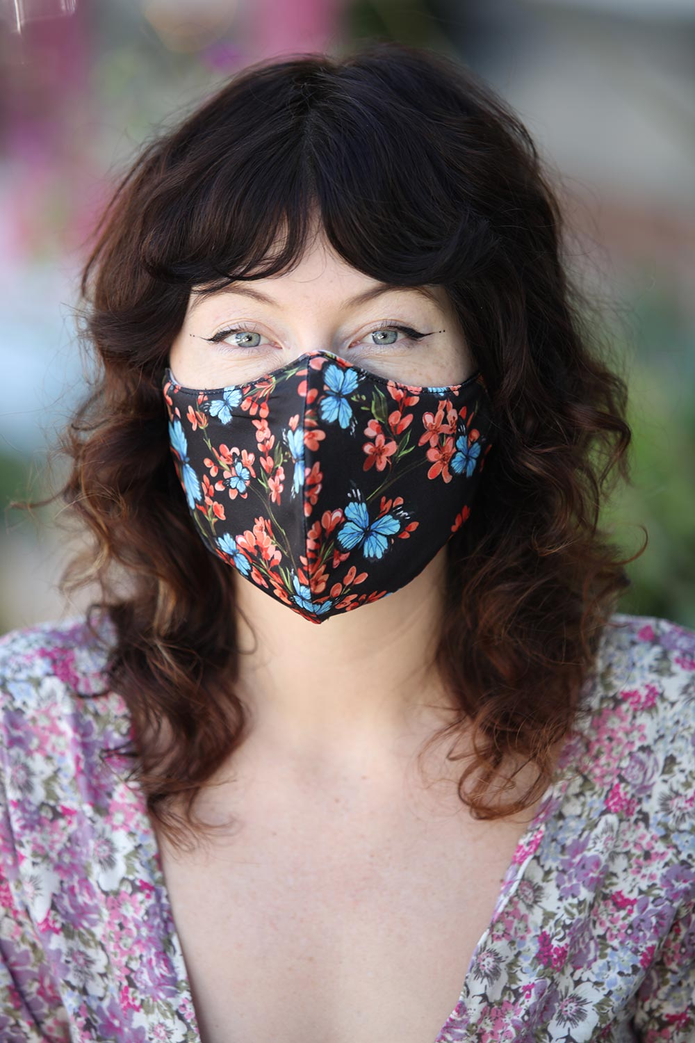 Blue Butterfly Women's Face Mask