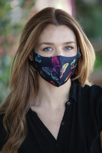 Neon Butterfly Women's Face Mask