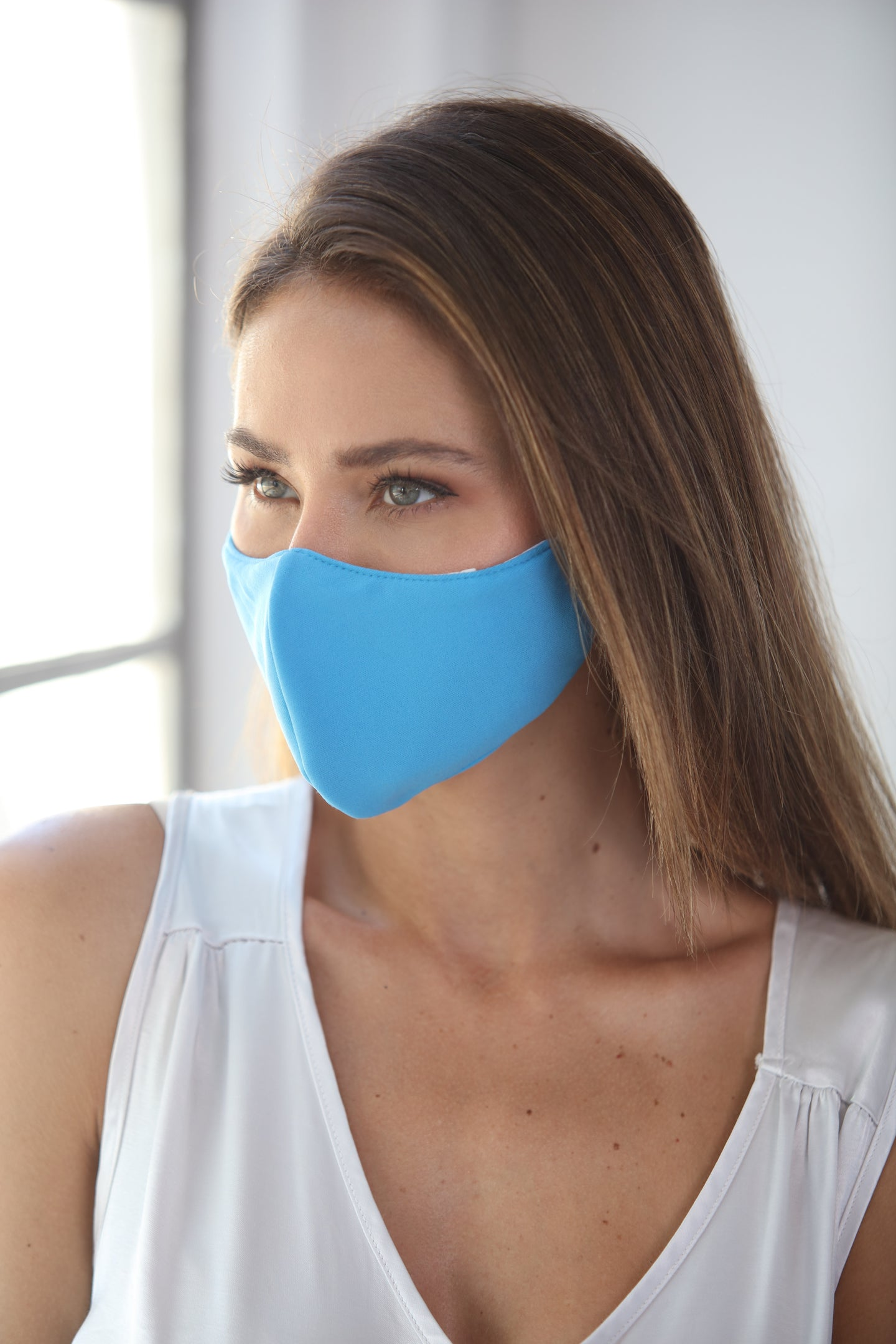 Pastel Blue Women's Face Mask