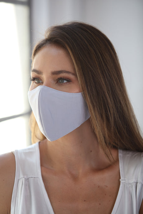 Pastel Gray Women's Face Mask