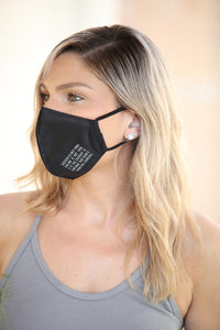 Black Women's Face Mask