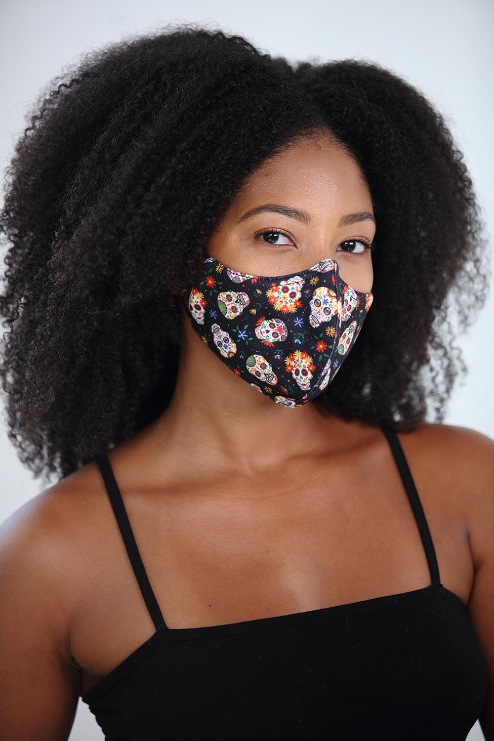 Calaveras Printed Women's Face Mask