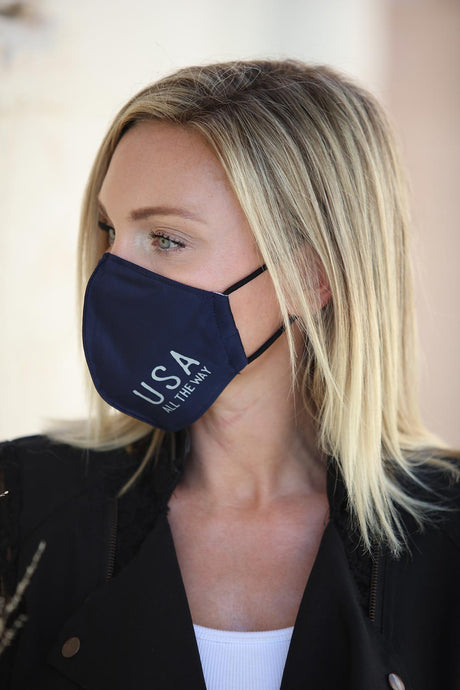 Navy Women's Face Mask