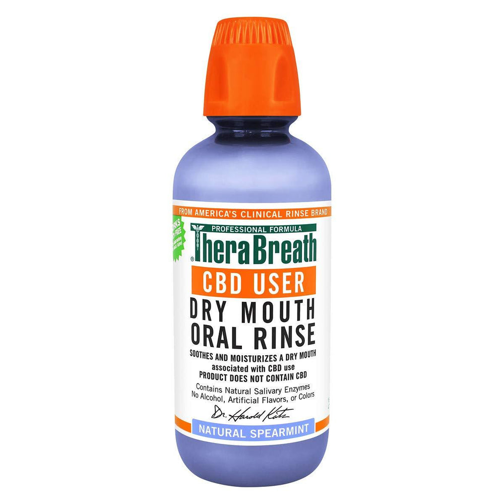 TheraBreath CBD User Dry Mouth Oral Rinse 473ml