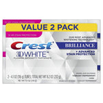 Crest 3D White Brilliance Toothpaste 116g (2 Pack)