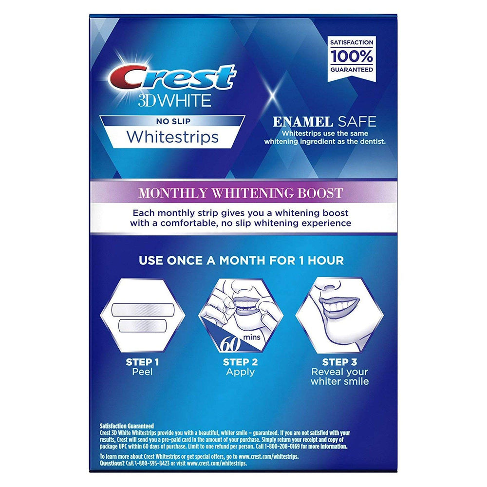 Crest 3D Whitestrips Monthly Whitening Boost (6 Treatment Box)