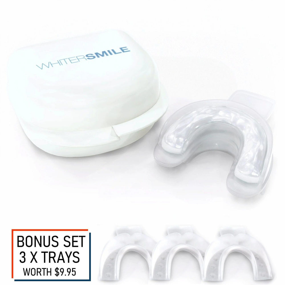 Whiter Smile Silicone Filled Mouth Trays + FREE 3 x Backup Trays