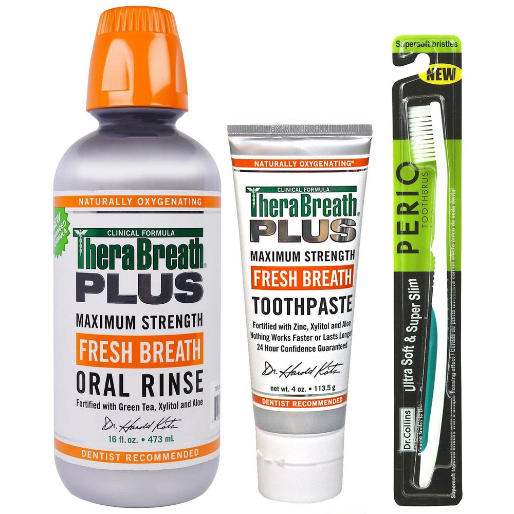 TheraBreath PLUS Maximum Strength Basics Kit - Whiter Smile