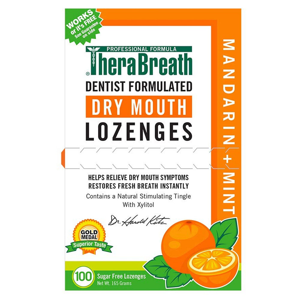 TheraBreath Mouth Wetting Lozenges Mandarin Mint