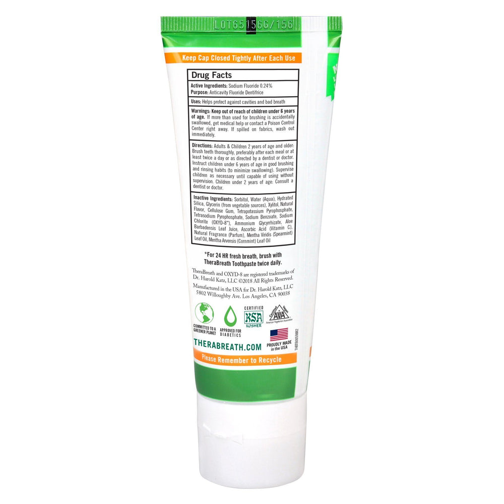 TheraBreath Fresh Breath Toothpaste 113.5g - Whiter Smile
