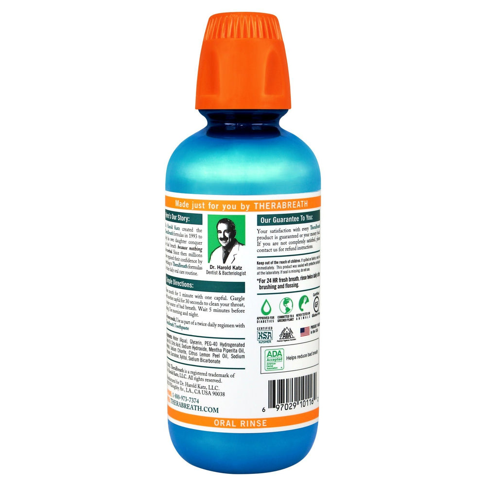TheraBreath Icy Mint Oral Rinse 473ml - Whiter Smile