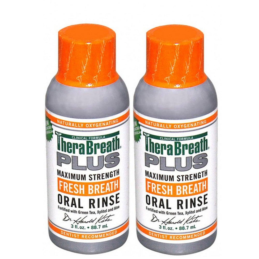 TheraBreath PLUS Oral Rinse Travel Size 88ml (2 Pack) - Whiter Smile