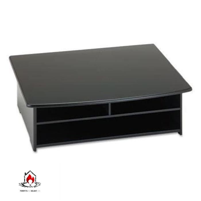 2-Shelf Printer Stand with Paper Holder in Black - Office > Printer Stands