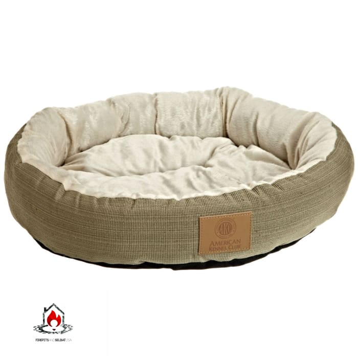 22-inch Round Pet Bed in Sage Green Small Dog or Cat - Machine Washable - Bedroom > Cat and Dog Beds