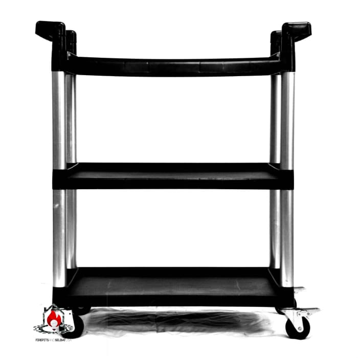3-Tier Printer Stand Utility Cart with Locking Casters - Office > Printer Stands