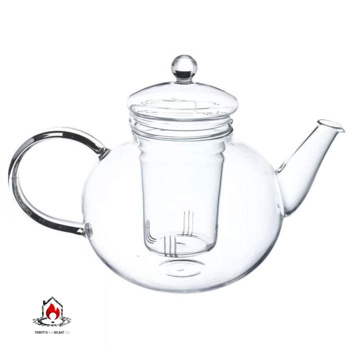 Borosilicate Glass 1.32 Quart Teapot with Removable Infuser - Kitchen > Teapots