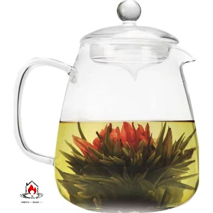 Borosilicate Glass 36 Oz Teapot with Glass Tea Infuser - Kitchen > Teapots