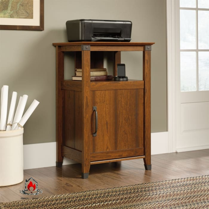 Cherry Finish Printer Stand with Open Shelf - Made in USA - Office > Printer Stands