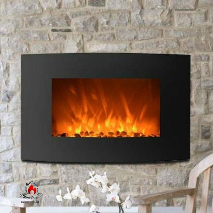 Curved Wall Mount 35-inch Electric Fireplace Heater - Accents > Electric Fireplaces