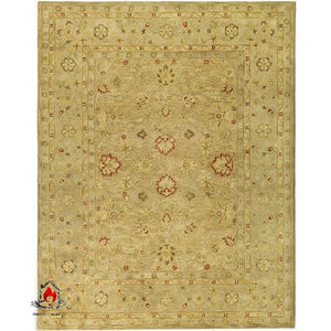 Handmade Majesty Light Brown/ Beige Wool Rug (8 Square) - Accents > Rugs