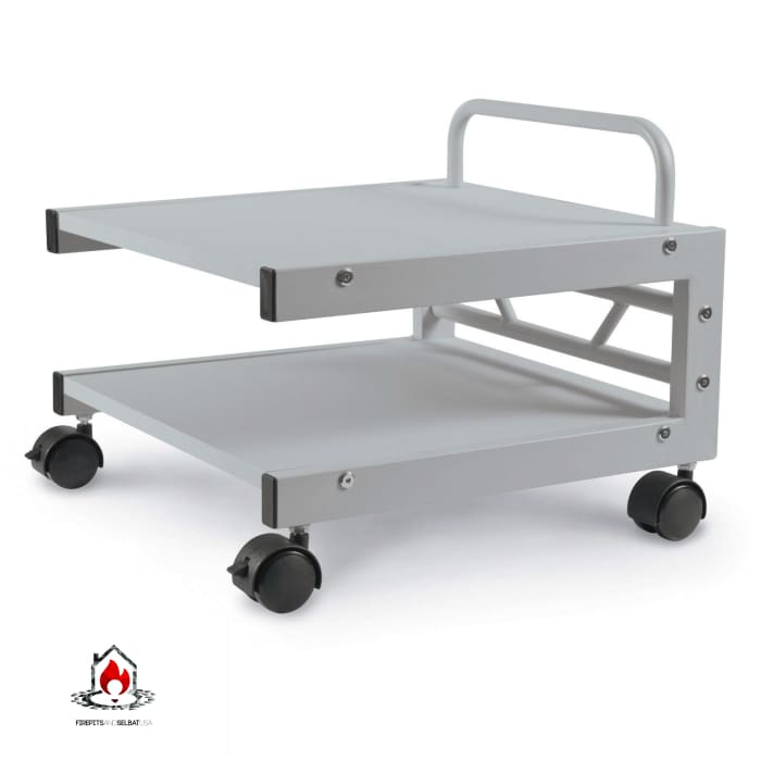 Low Profile Printer Stand with Bottom Paper Shelf and Locking Casters - Office > Printer Stands