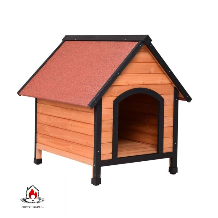 Medium Dog Outdoor Indoor Wooden Pet Room Shelter House - Bedroom > Cat and Dog Beds