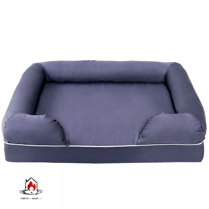 Navy Blue 4 inch thick Memory Foam Extra Large Dog - Bedroom > Cat and Dog Beds