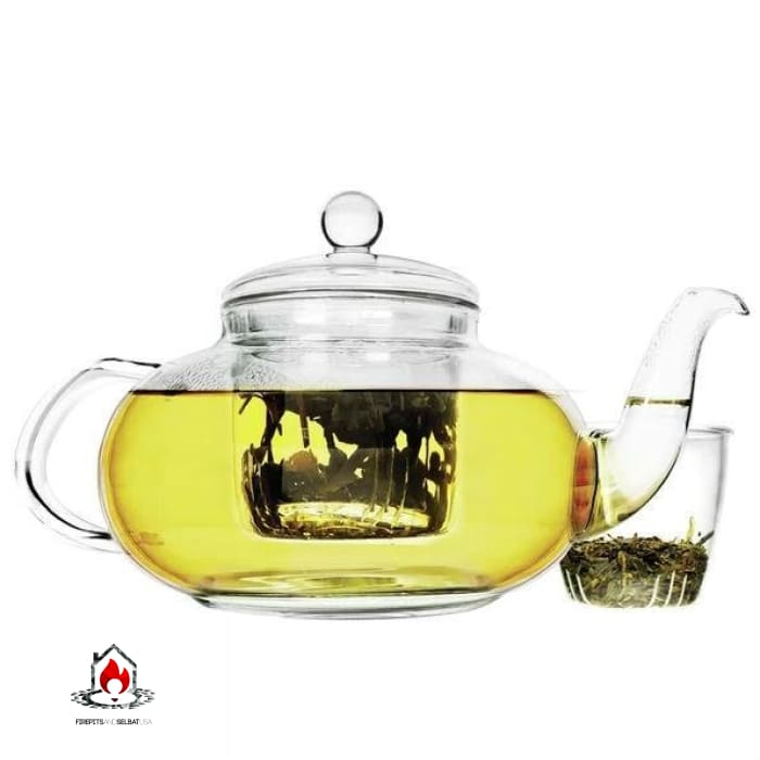 Stovetop Safe 40-oz Glass Teapot with Tea Infuser - Kitchen > Teapots