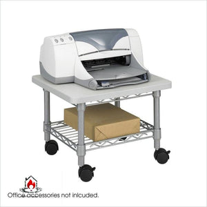 Under Desk Printer Stand Cart with Paper Shelf and Locking Casters - Office > Printer Stands
