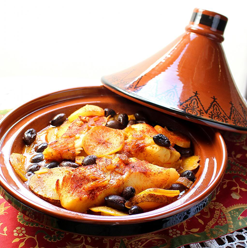 Cooking Medium Tagine Moroccan Clay Cookware by Cooking Tagines